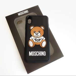🧸 MOSCHINO iPhone XS Max Case Bear Toy Black